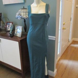 Asos NWT Green Front Split Sheath Dress 8 Fits 6